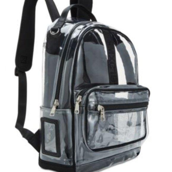 Steve Madden Handbags - NWT Steve Madden Amelia Clear Backpack + Id Case